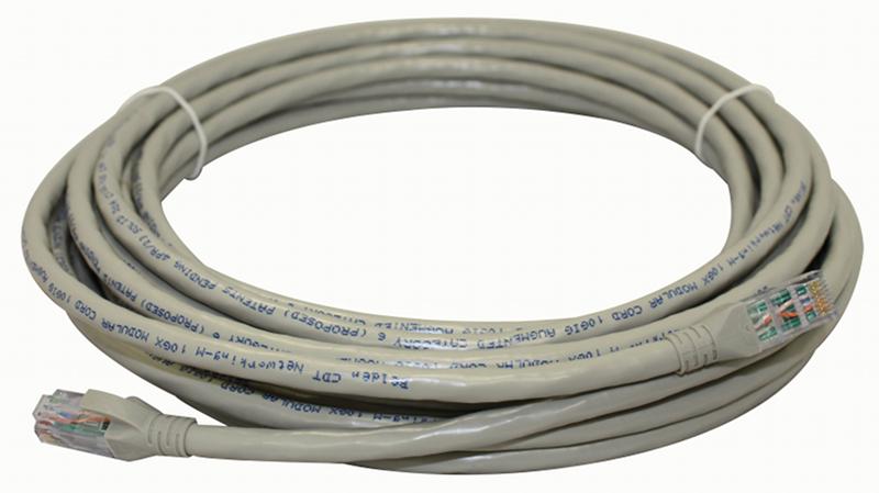 1 Stk IBDN LINE Patchkabel RJ45 ungeschirmt Cat.6A, grau, 4,6m HBIX360029