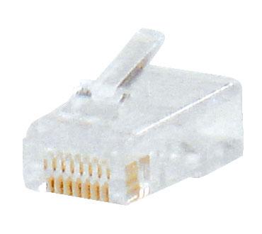 1 Stk RJ45 Stecker zum Crimpen, ungeschirmt, Cat.5e / Telefon HJ45LCU800