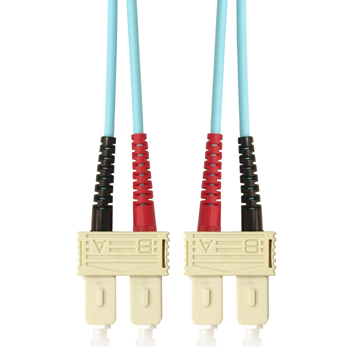 1 Stk LWL Patchkabel Duplex SC/SC,50/125µm OM3,LS0H-3,aqua, 2.0m HLP23CC02F
