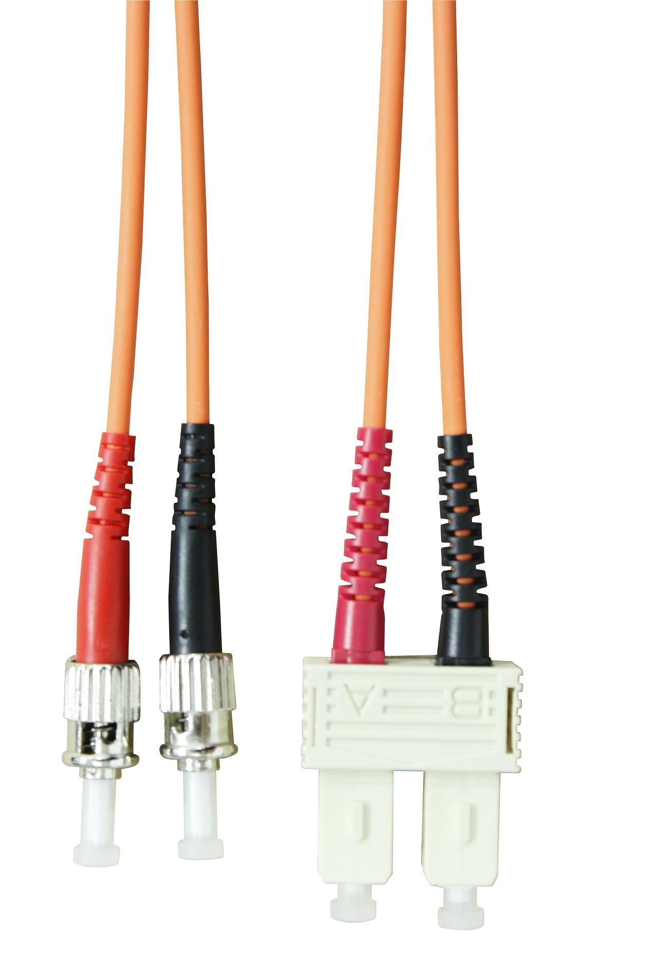 1 Stk LWL Patchkabel Duplex ST/SC,50/125µm OM2,LS0H-3,orange, 3.0m HLP25TC03F