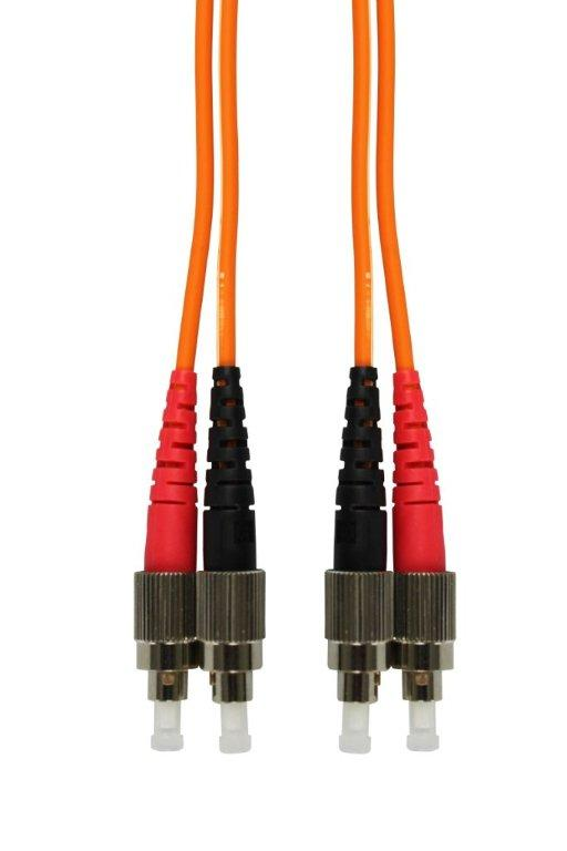 1 Stk LWL Patchkabel Duplex FC/FC,62,5/125µm OM1, LS0H, orange, 5m HLP26FF05F
