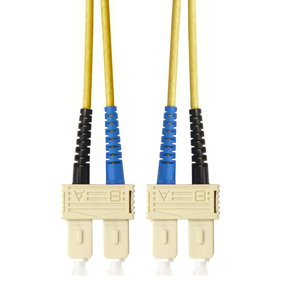 1 Stk LWL Patchkabel Duplex SC/SC, 9/125µm OS2, LS0H-3, gelb,10.0m HLP29CC10F