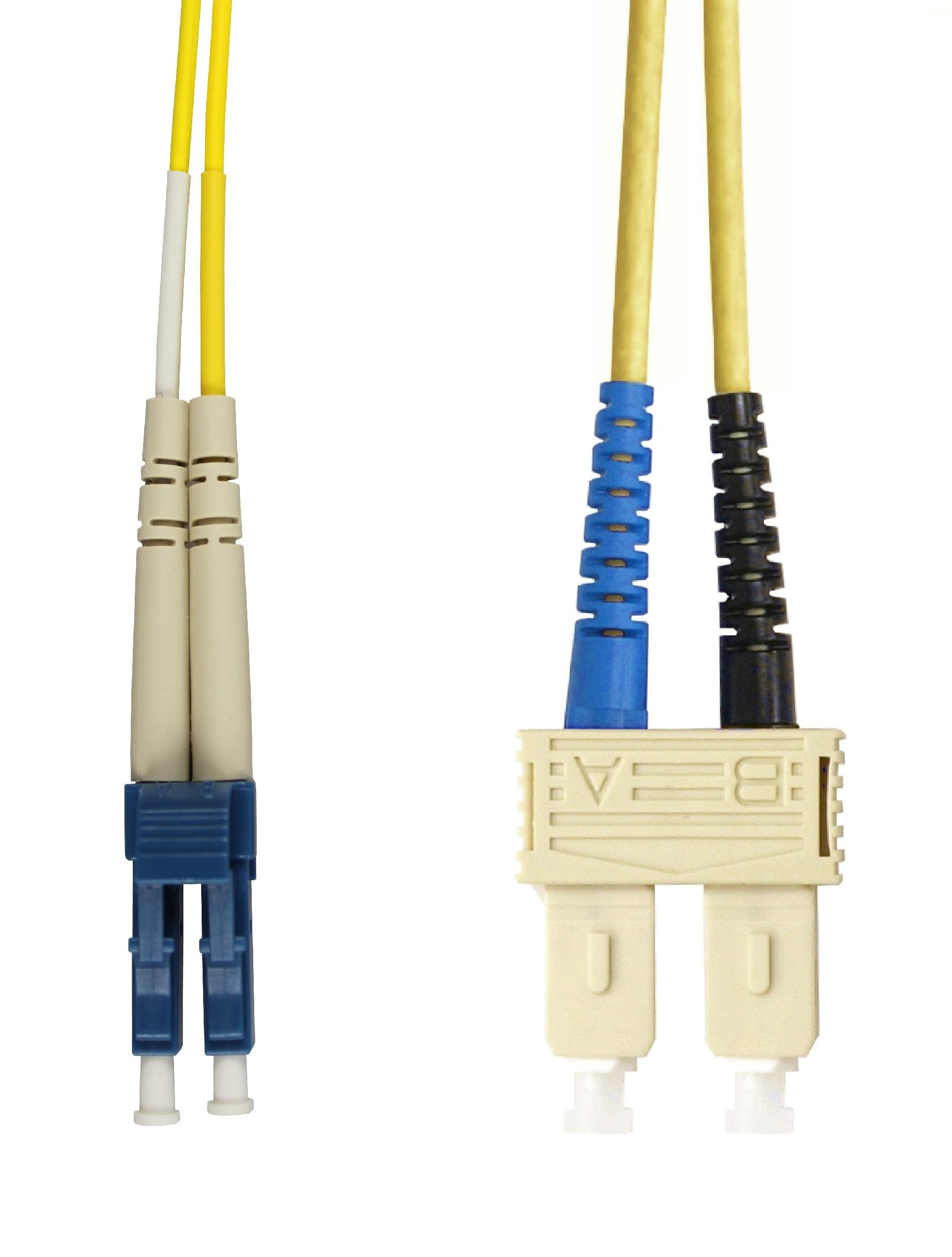1 Stk LWL Patchkabel Duplex LC/SC, 9/125µm OS2, LS0H-3, gelb,10.0m HLP29LC10F