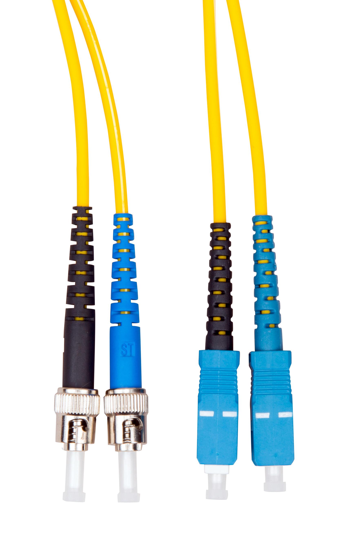 1 Stk LWL Patchkabel Duplex ST/SC, 9/125µm OS2, LS0H-3, gelb, 2.0m HLP29TC02F