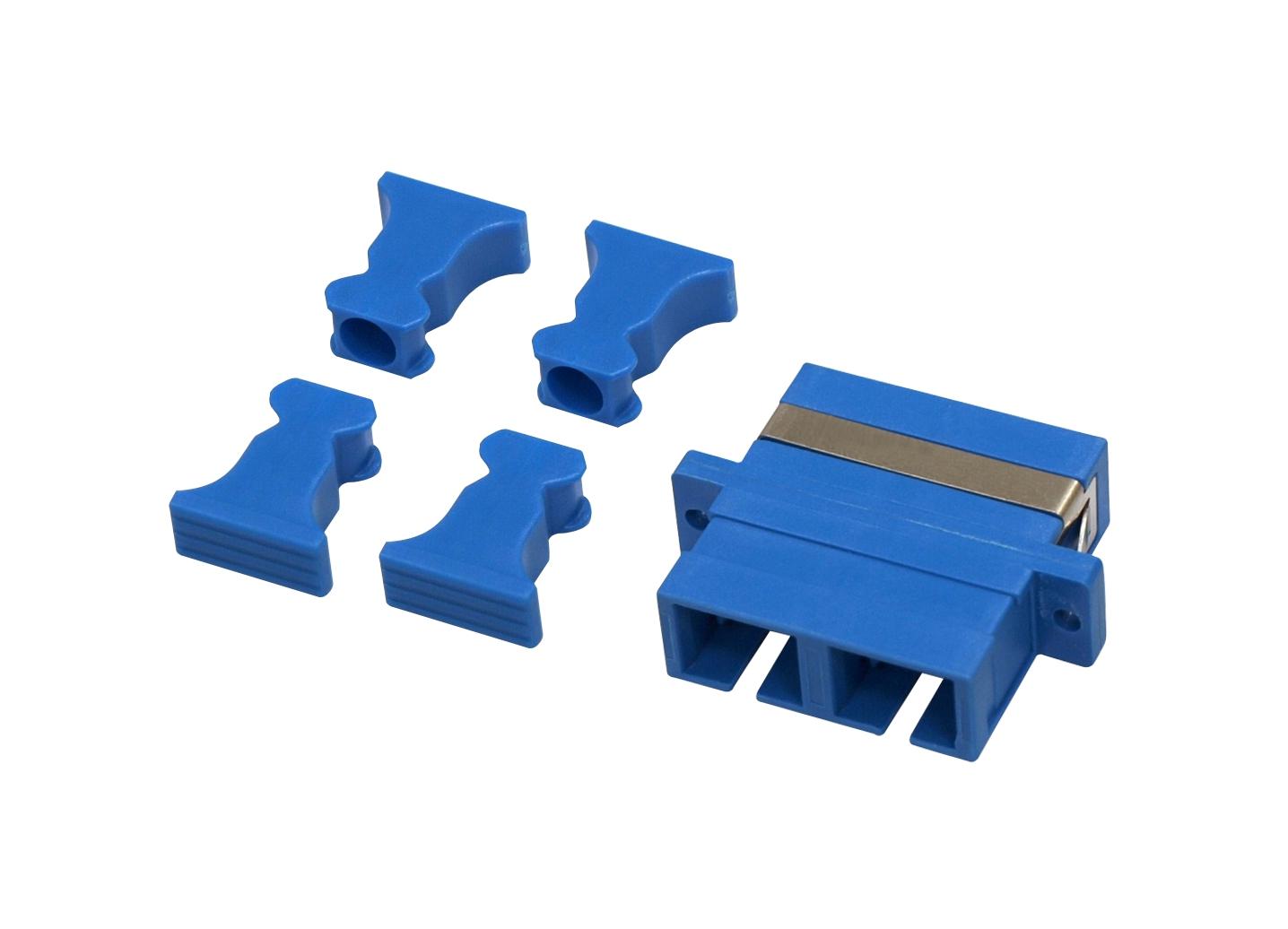 1 Stk LWL Kupplung SC-Duplex,Kunststoff,Singlemode,zirc,Flansch,bl HMOL000054