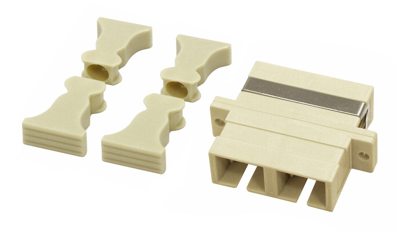 1 Stk LWL Kupplung SC-Duplex,Kunststoff,Multimode,phbr Flansch, gr HMOL000059