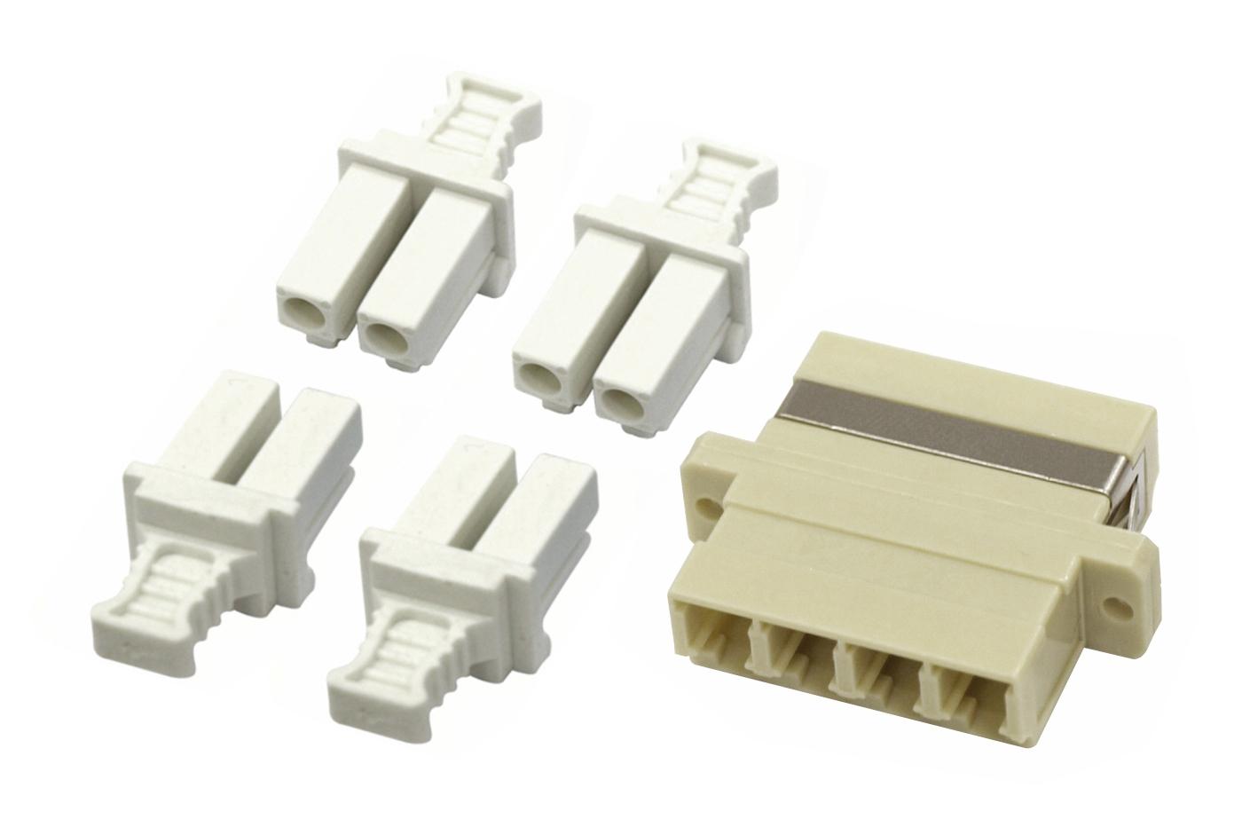 1 Stk LWL Kupplung LC-Quad, Multimode, phbr, Flansch, grau HMOL000105