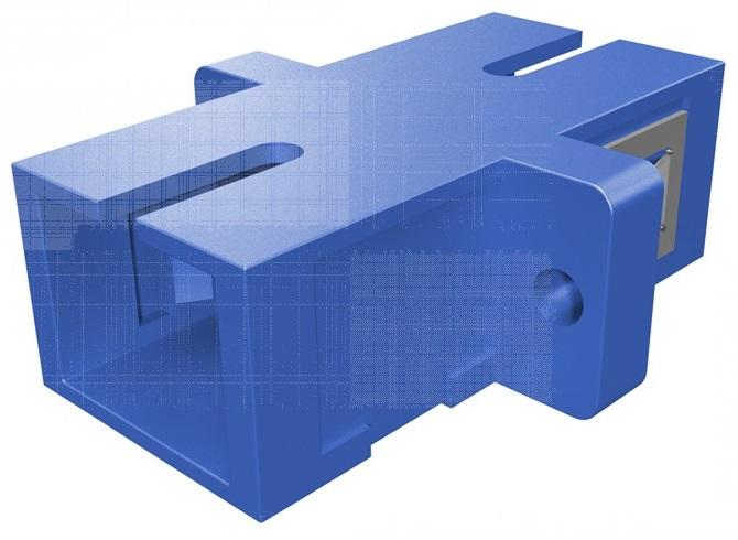 1 Stk LWL Kupplung SC-Simplex, Singlemode, zirc, Flansch, blau,ECO HMOLE00055