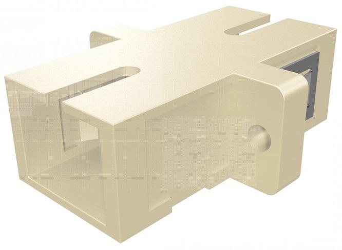 1 Stk LWL Kupplung SC-Simplex, Multimode, phbr, Flansch,beige, ECO HMOLE00058
