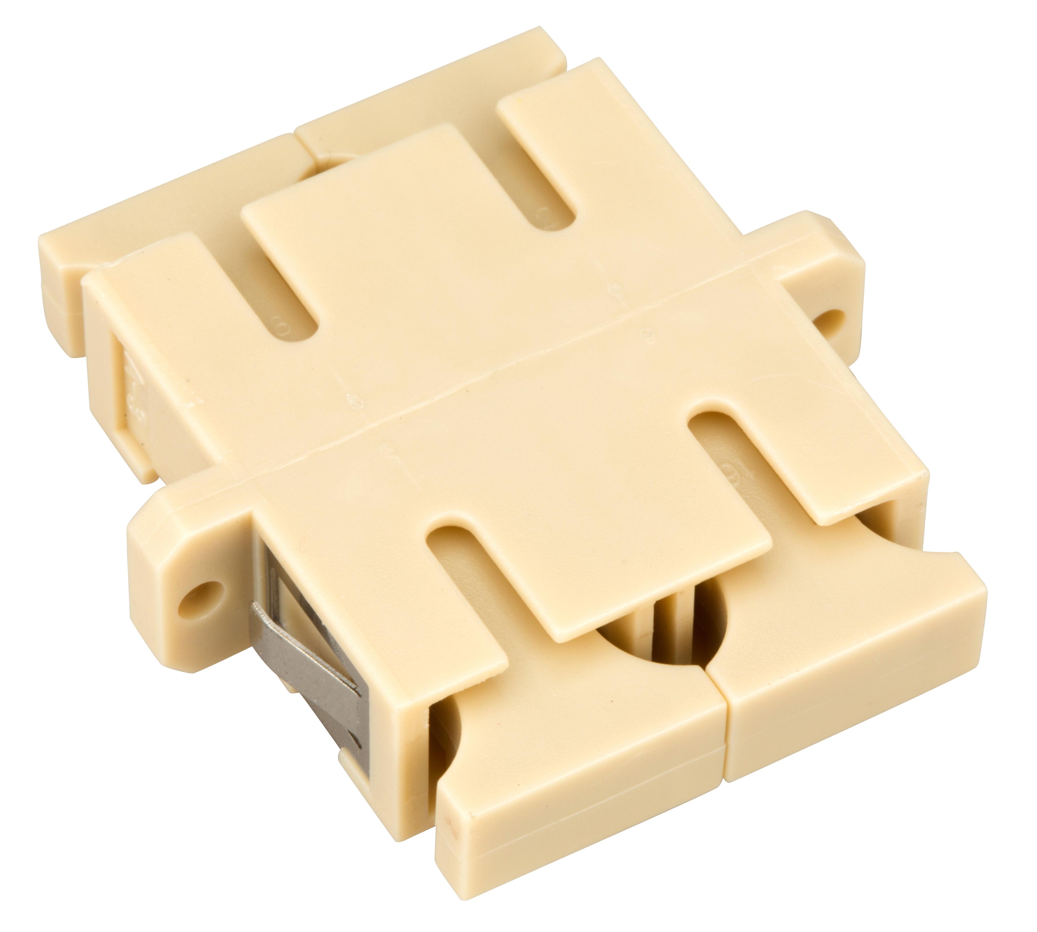 1 Stk LWL Kupplung SC-Duplex, Multimode, phbr, Flansch, beige, ECO HMOLE00059