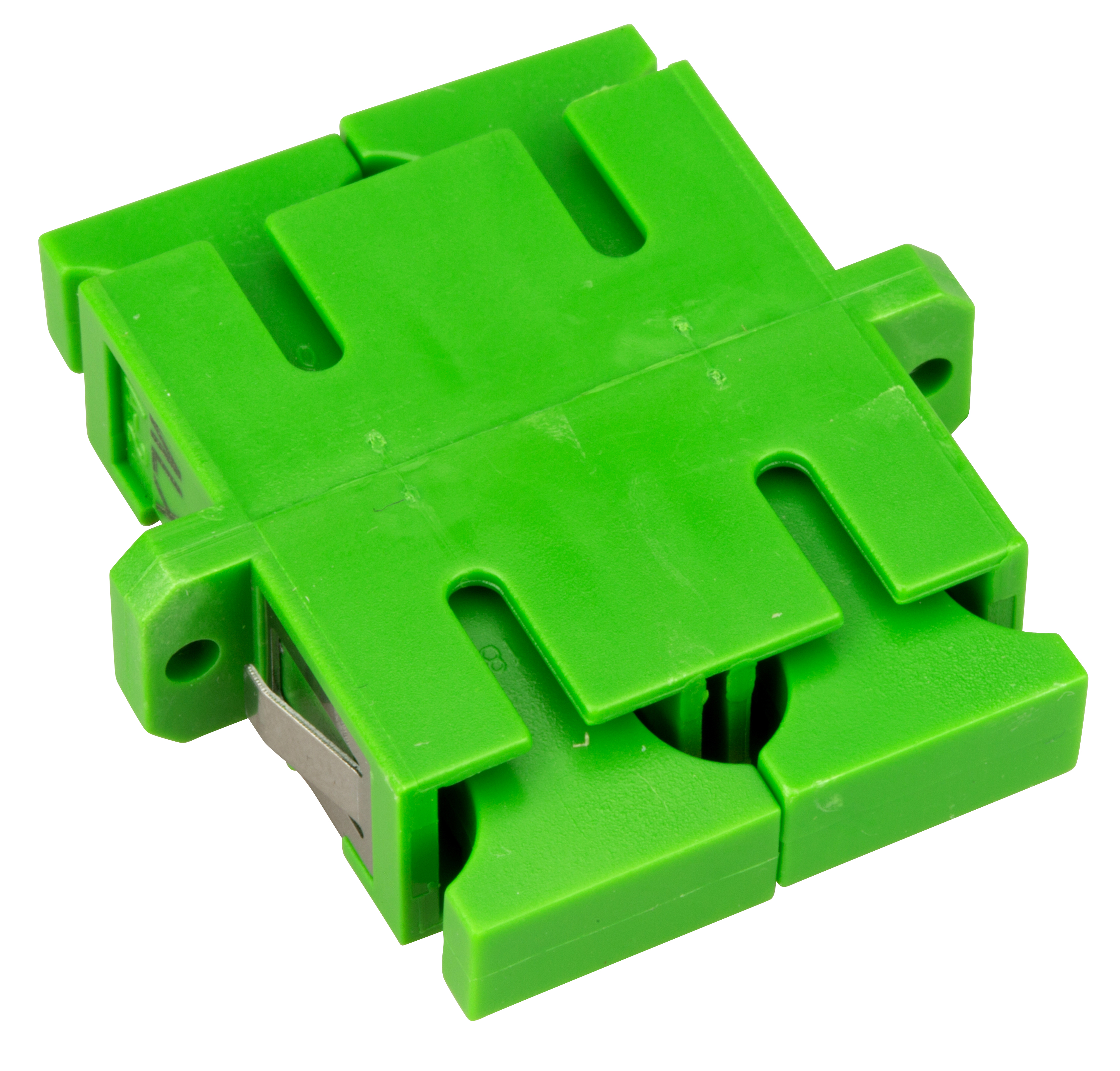 1 Stk LWL Kupplung SC/APC-DX, Singlemode,zirconia,Flansch,grün,ECO HMOLE00109