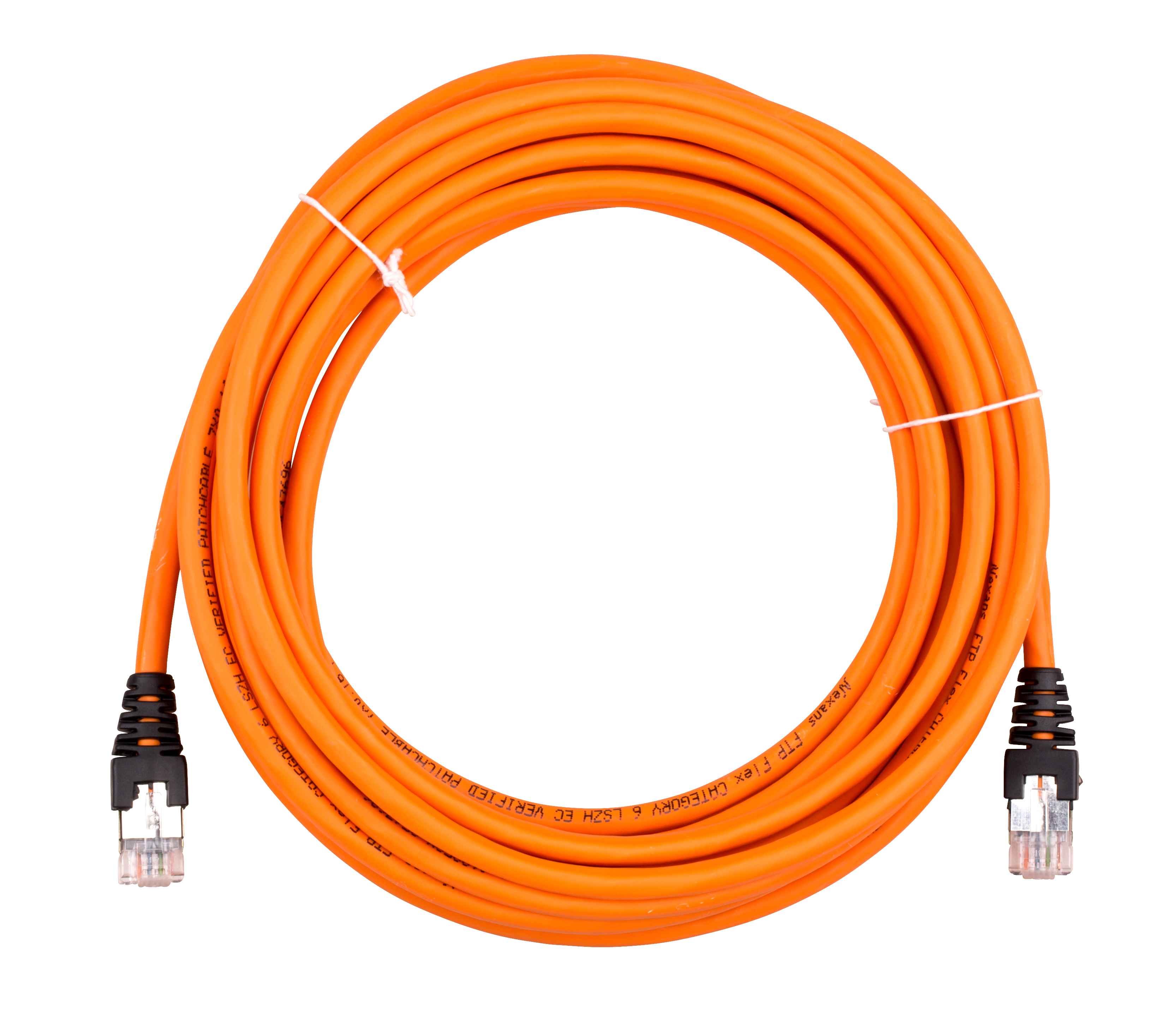 1 Stk Patchkabel RJ45 geschirmt, Cat.6, LSOH, orange, 5,0m HNXR121605