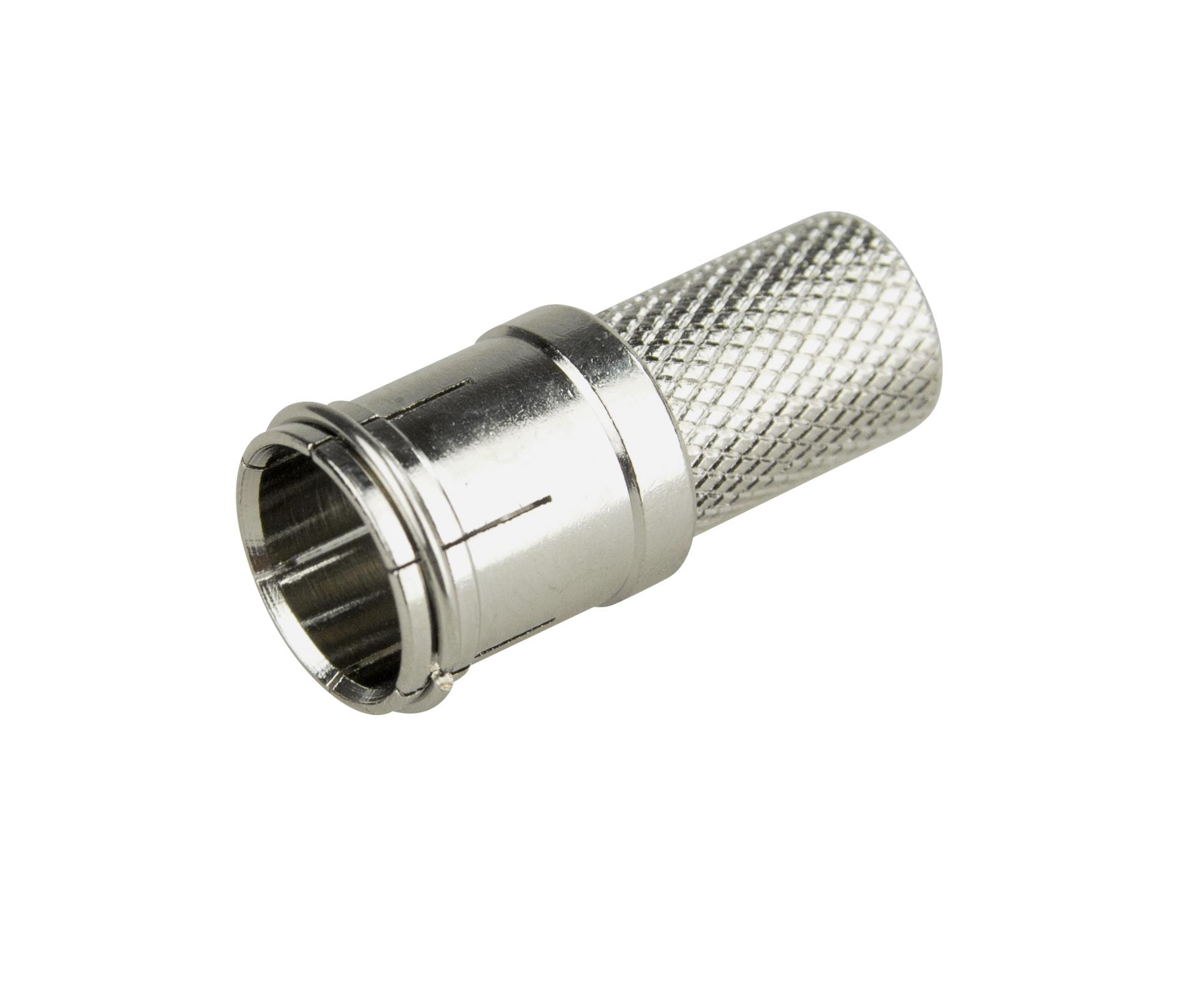 1 VE Koax F-Stecker Quick, schraubbar, für Kabel 6,6-6,8mm,10 Stk HS4HFSQ---