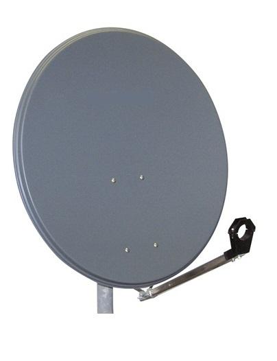 1 Stk SAT Antenne  45/40cm, Stahl,33dB Gain,Arm steckbar,Anthrazit HSATA045SA