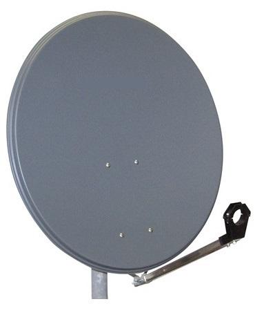 1 Stk SAT Antenne  60/55cm, Stahl,36dB Gain,Arm klappbar,Anthrazit HSATA060SA