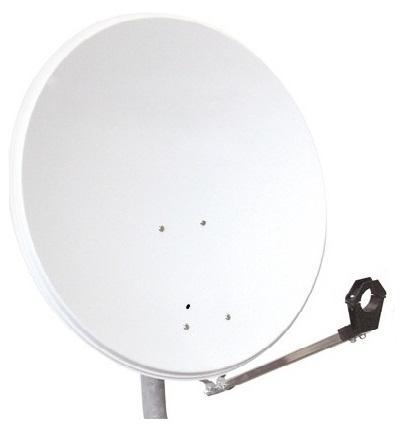 1 Stk SAT Antenne  65/60cm, Alu, 37dB Gain, Arm klappbar, Weiß HSATA065AW