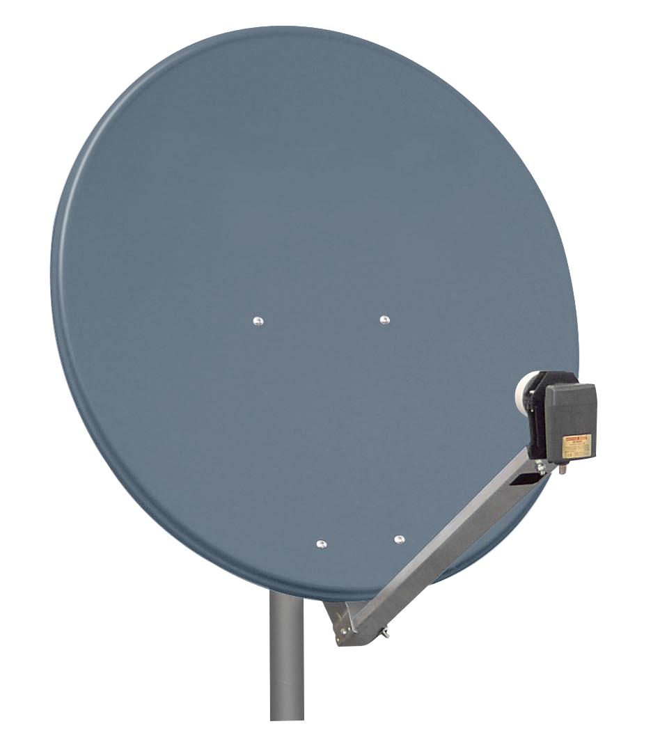 1 Stk SAT Antenne  80/75cm, Alu,39dB Gain,Arm klappbar,Anthrazit HSATA080AA