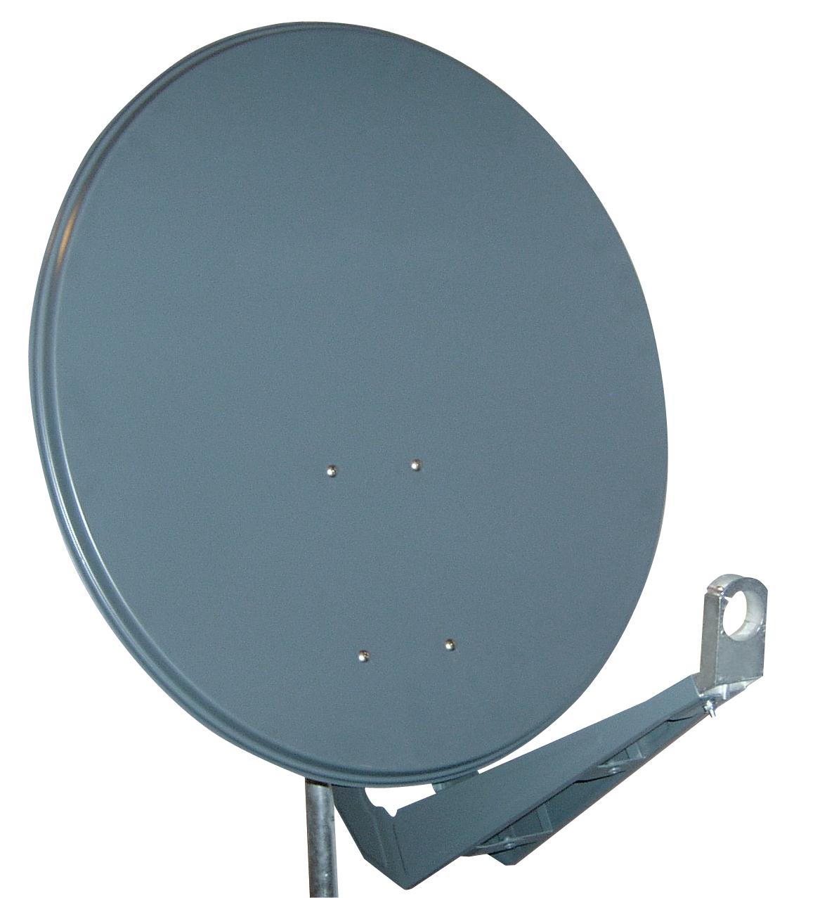 1 Stk SAT Antenne  85/80cm,Alu,40dB Gain,Doppel Monoblok Arm,Anthr HSATA085AA