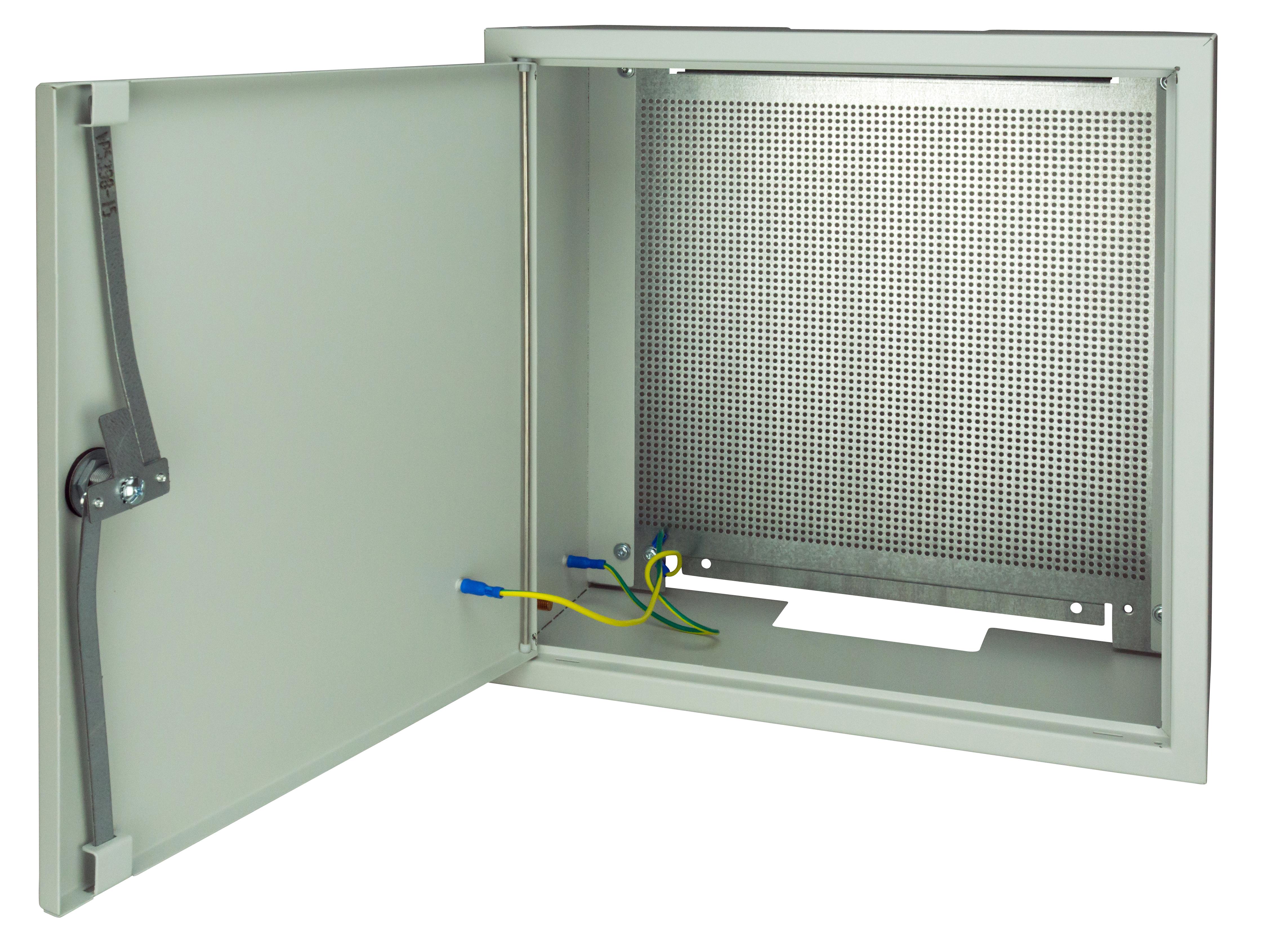 1 Stk SAT Gehäuse Stahl, Loch-Montageplatte,3-Punkt,B400xH400xT200 HSATG442M-