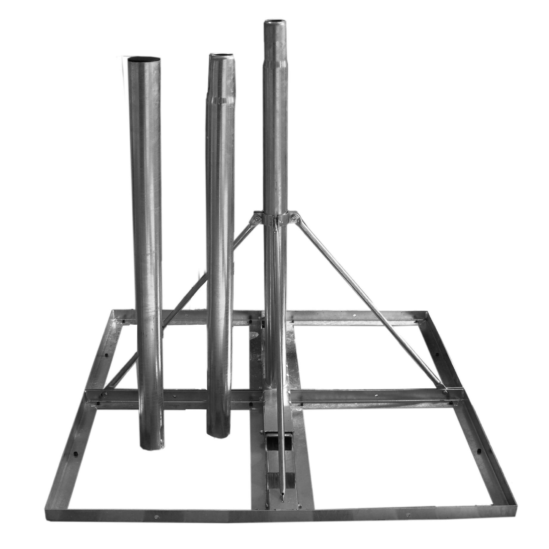 1 Stk SAT Flachdach-Ständer,f. 4xBeton 50x50cm, Mast=300cm, Stahl HSATMF30S-