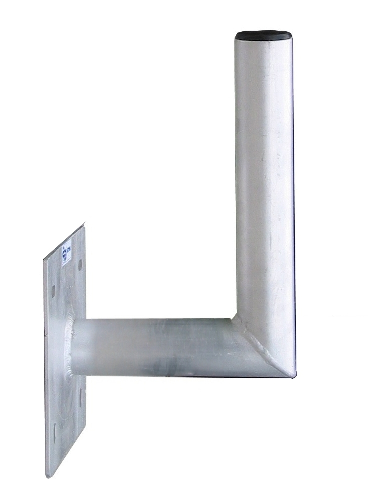 1 Stk SAT Wandhalter,Wandabst.=180mm,H=250mm,150x150mm,DM=50mm,Alu HSATMW18A-