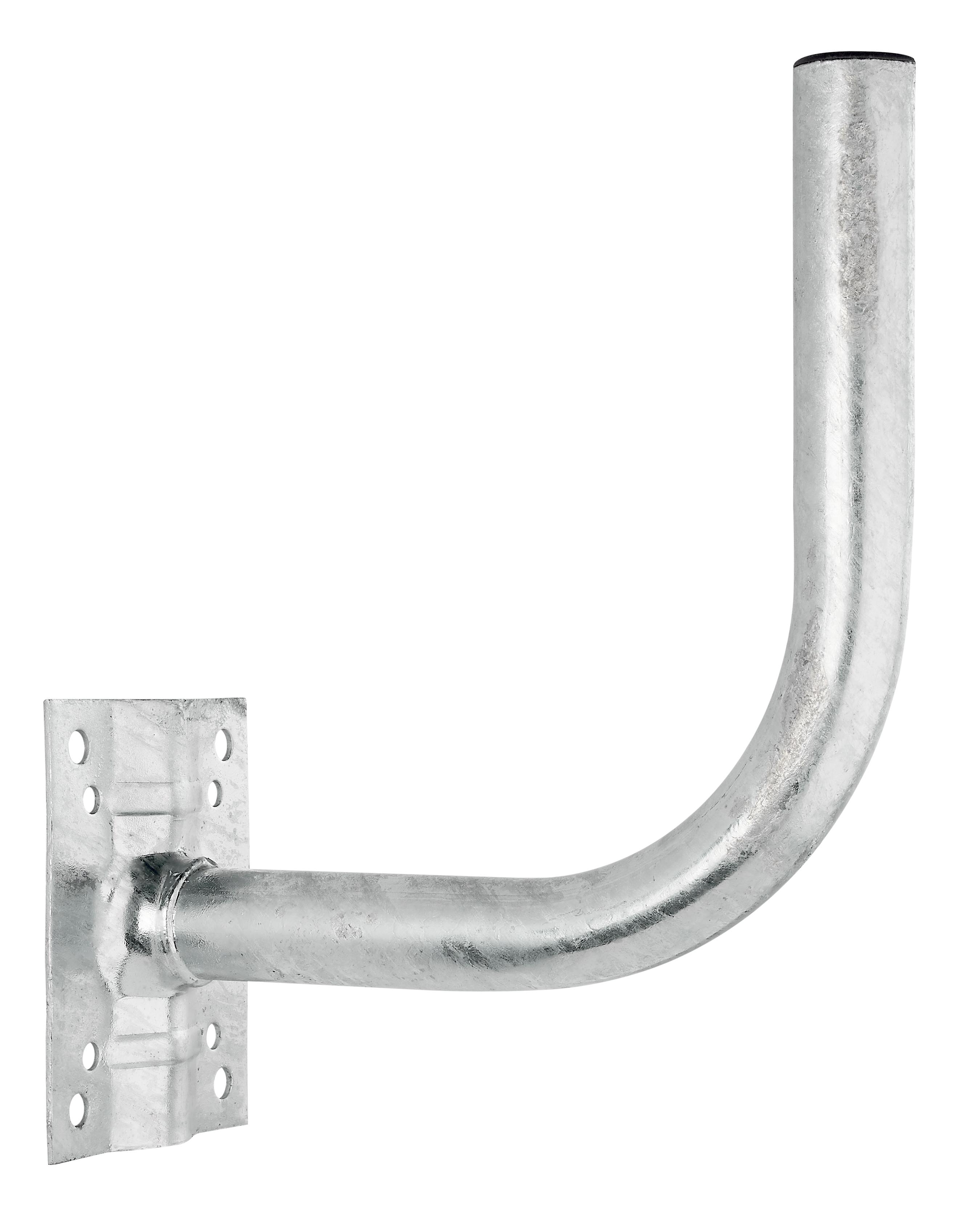 1 Stk SAT Wandhalter,Wandabst.=260,H=270,DM=40mm,Stahl feuerverzin HSATMW26S-