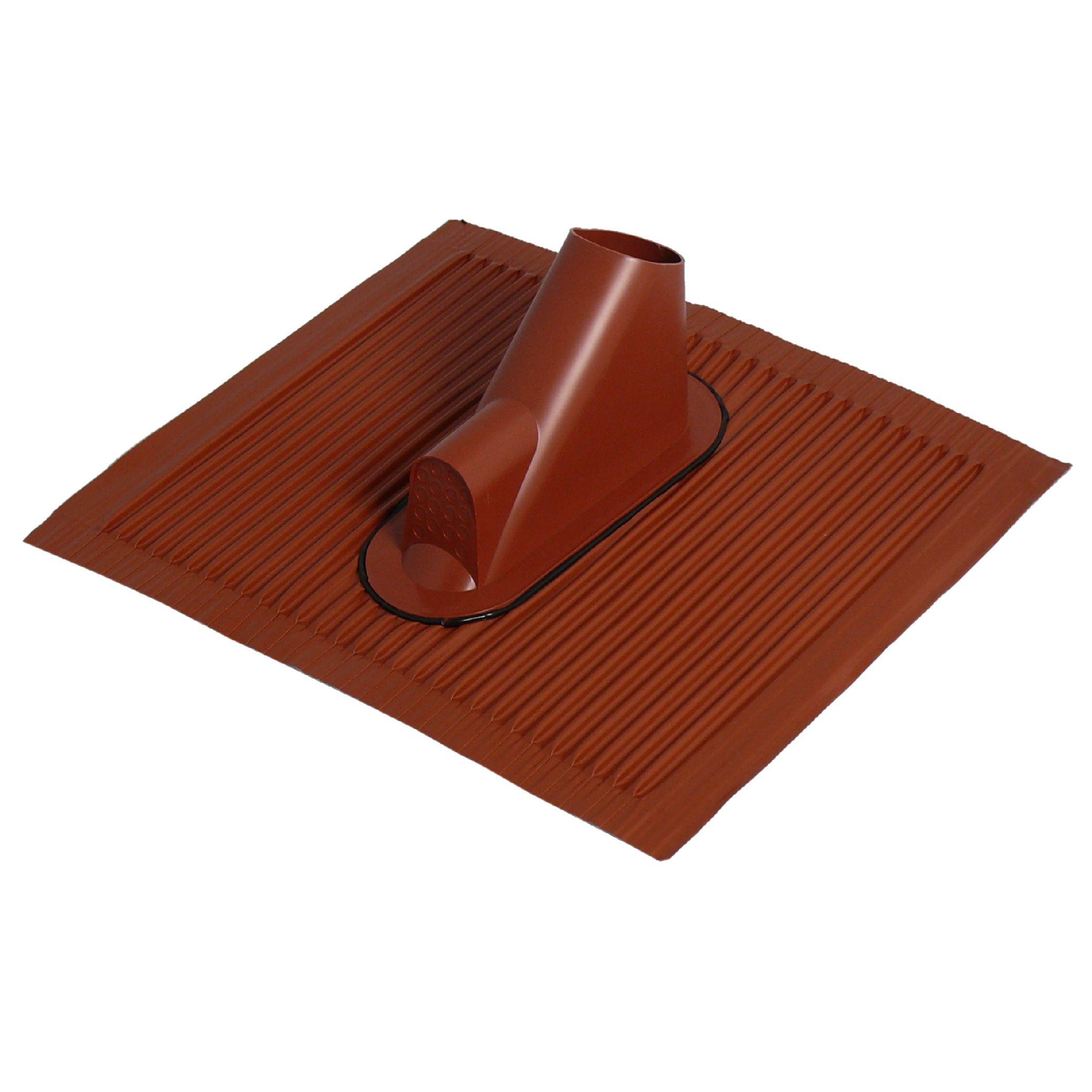 1 Stk SAT Dachziegel mit Kabeleinf., 45x50cm, Mast:38-60mm,Alu,rot HSATMZ01AR