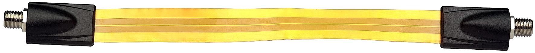 1 Stk SAT Fensterdurchführung Folie, 2x F-Buchse, 25cm, SAK 25-01 HSATPFD---