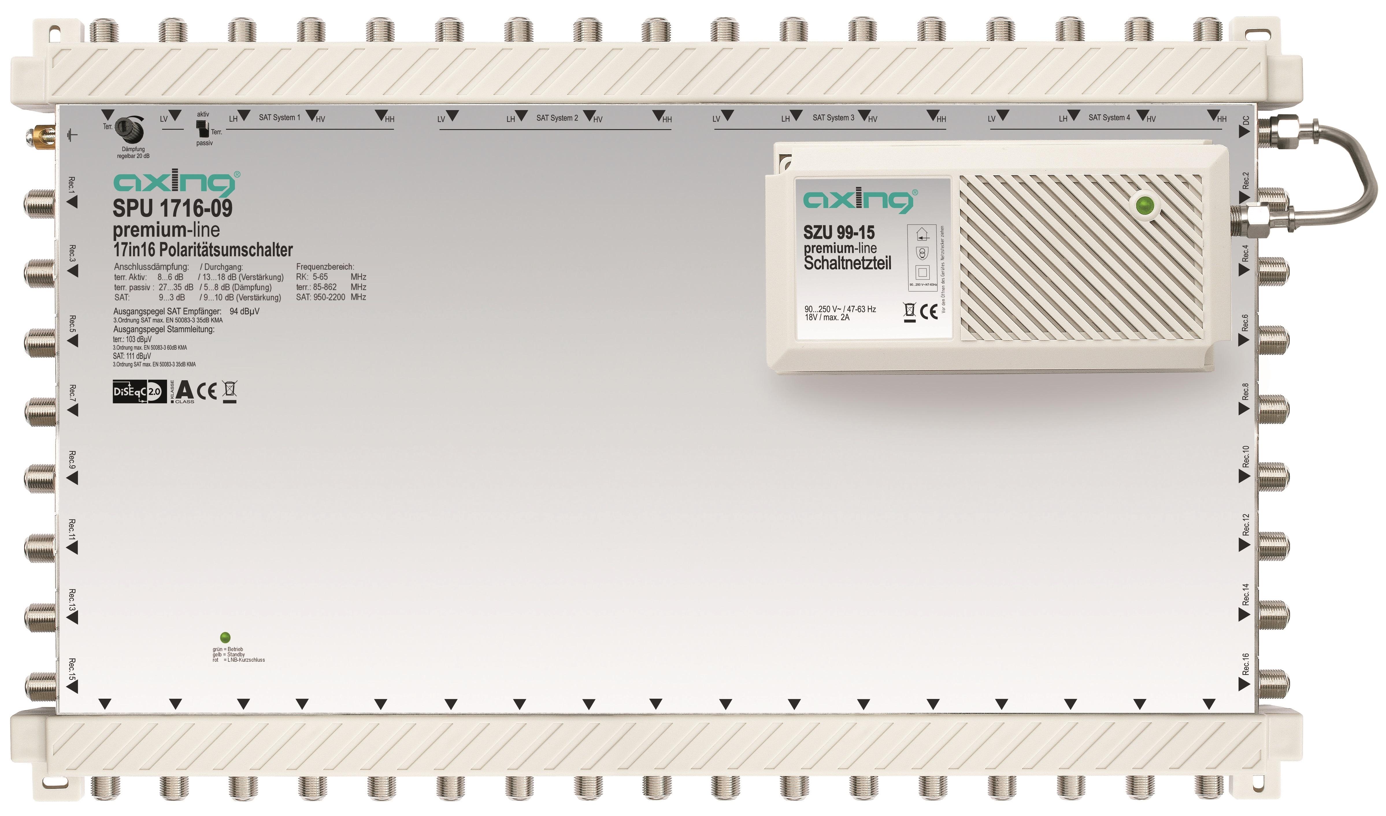 1 Stk SAT Multischalter 17 in 16, kaskadierbar, SPU 1716-09 HSATS1716A