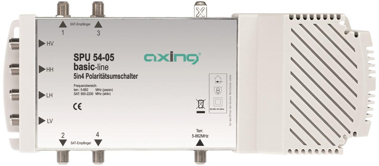1 Stk SAT Multischalter  5 in  4 für Quattro + Quad LNB,SPU 54-05 HSATS504EA