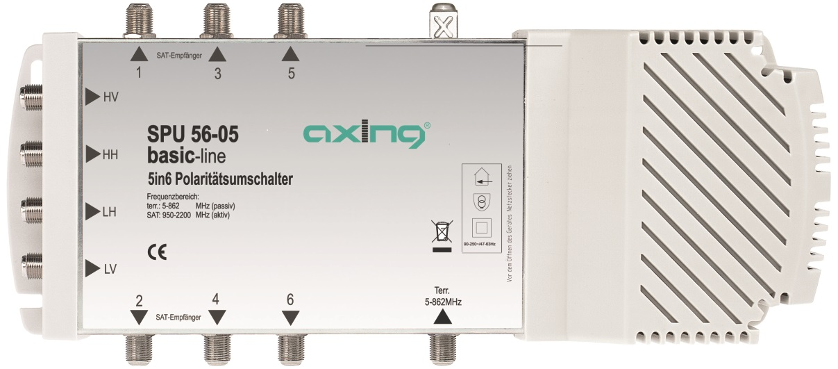 1 Stk SAT Multischalter  5 in  6 für Quattro + Quad LNB,SPU 56-05 HSATS506EA