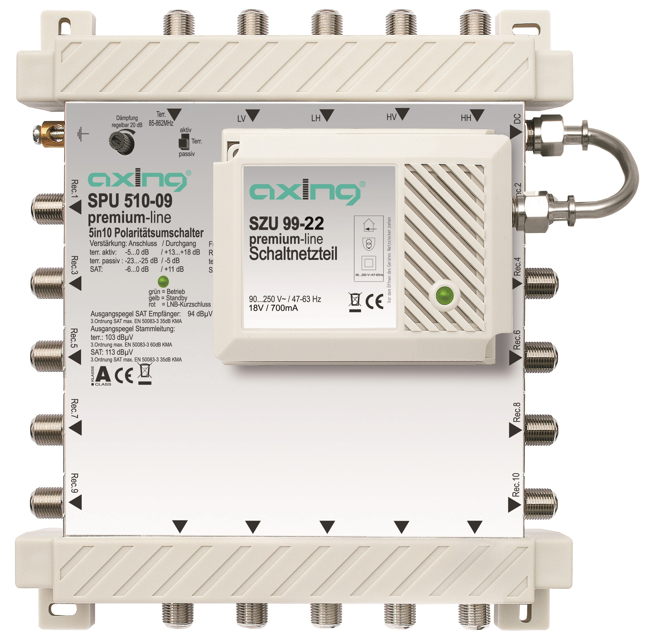 1 Stk SAT Multischalter  5 in 10, kaskadierbar, SPU 510-09 HSATS510KA