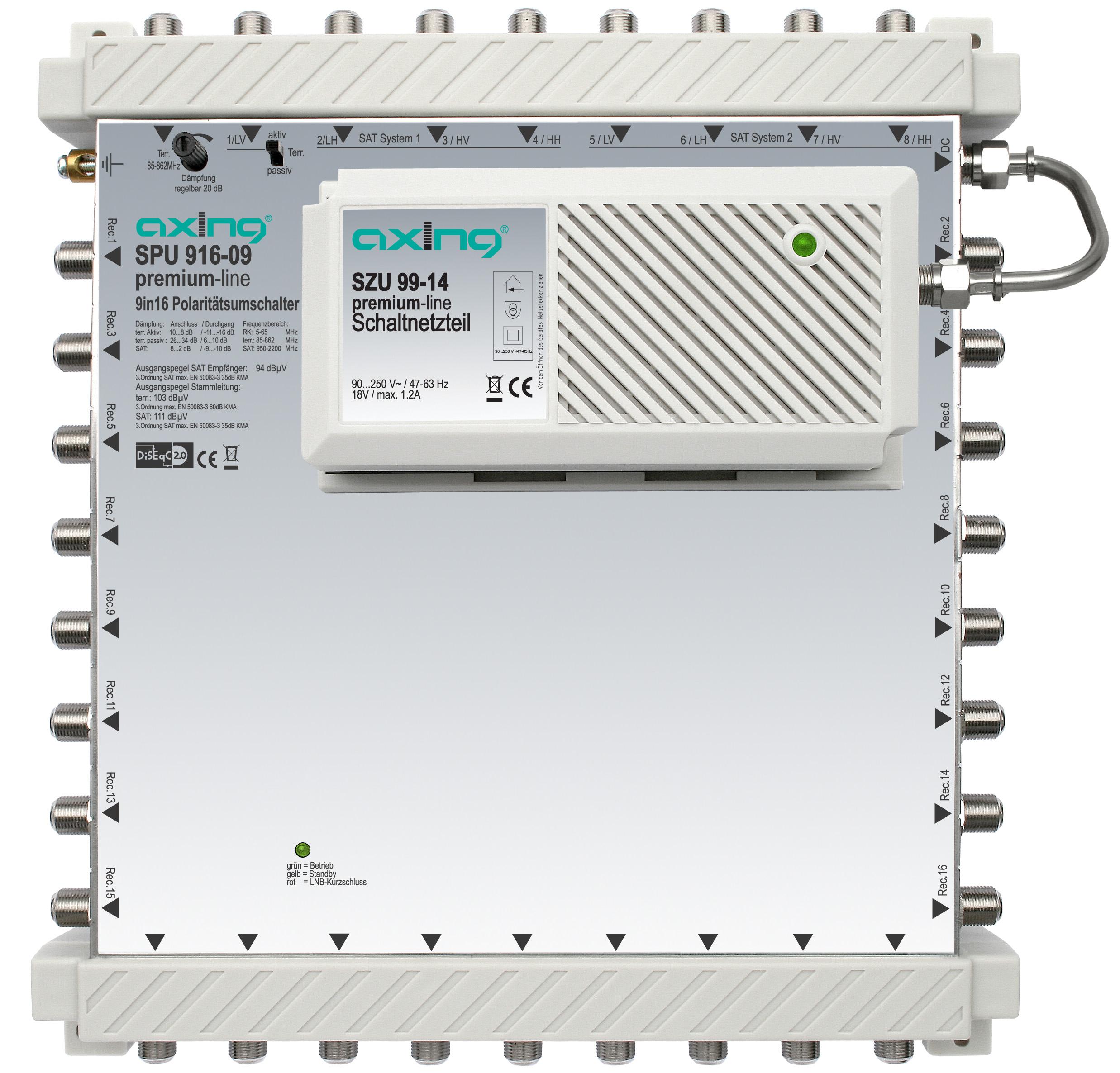 1 Stk SAT Multischalter  9 in 16, kaskadierbar, SPU 916-09 HSATS916KA