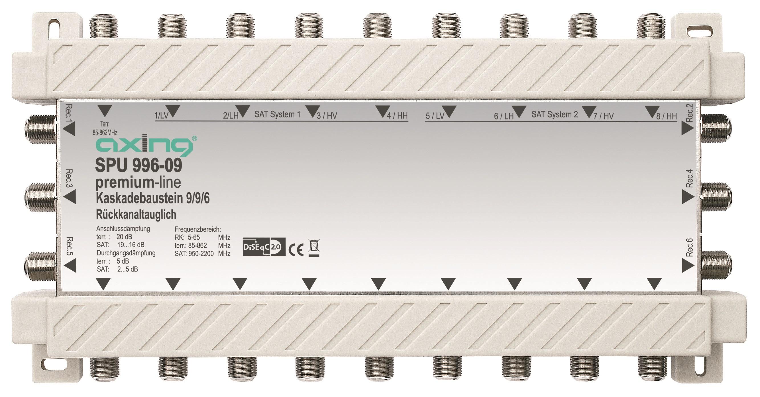 1 Stk SAT Kaskadierbaustein 9 in 6 passiv f. HSATS9xxKA,SPU 996-09 HSATSK906A