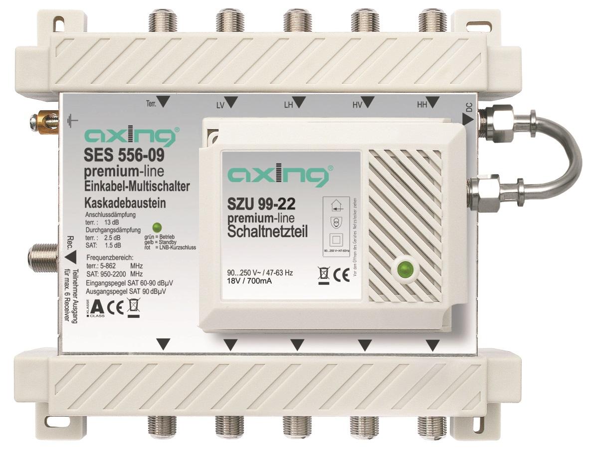 1 Stk SAT Multischalter Einkabel 5 in 6, kaskadierbar, SES 556-19 HSATSU506A
