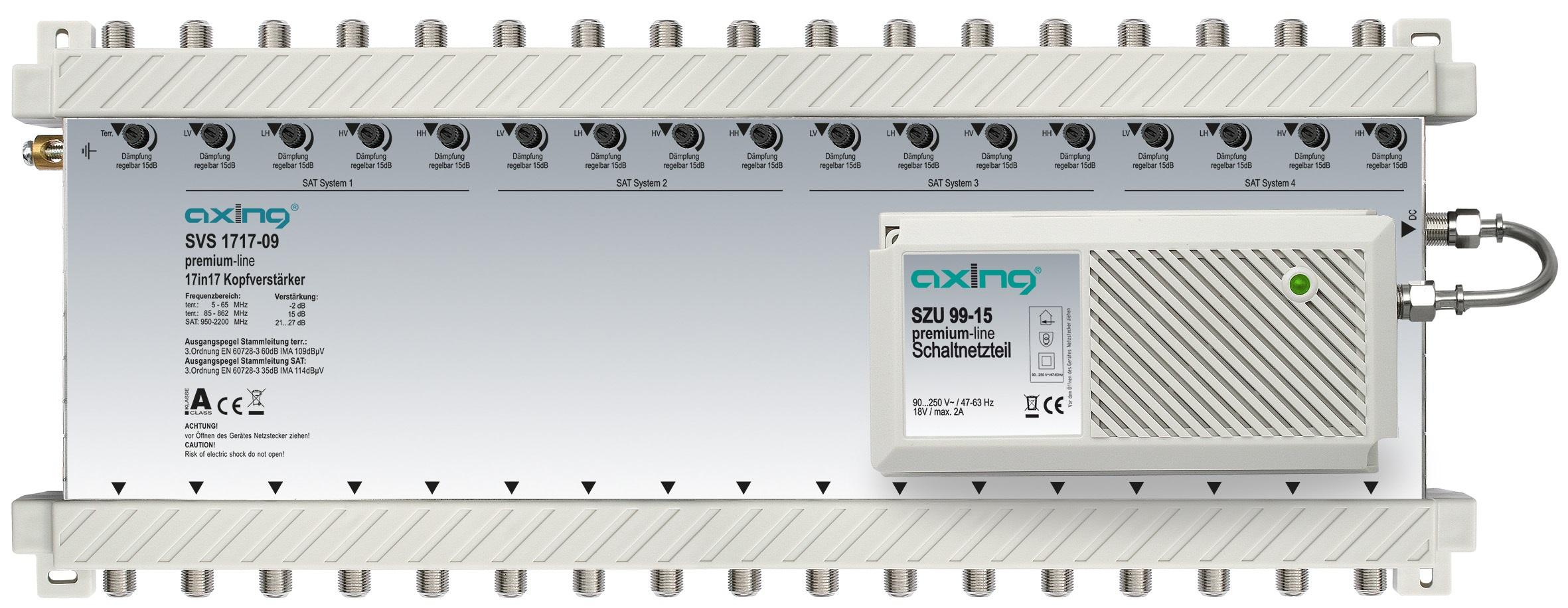 1 Stk SAT Kopfverstärker 17 in 17, SVS1717-09 HSATSV179A