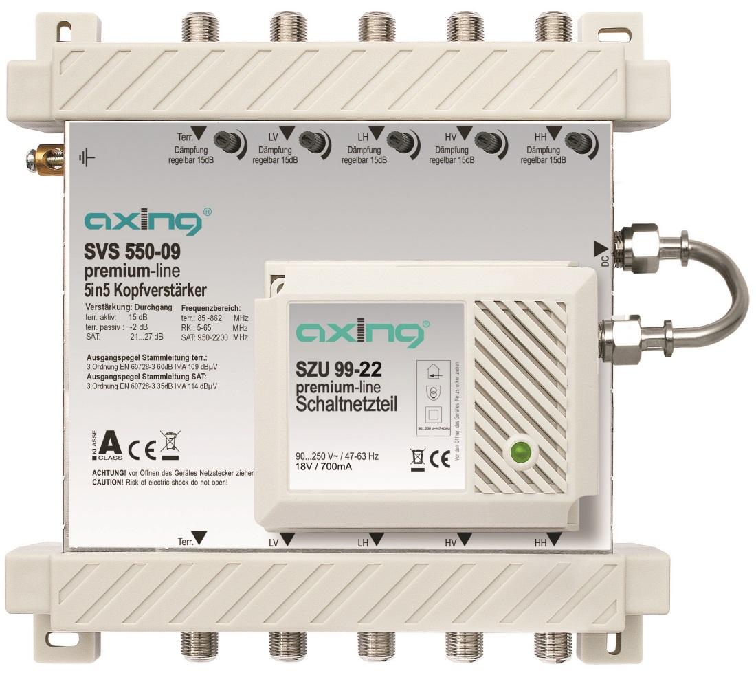 1 Stk SAT Kopfverstärker 5 in 5, SVS 550-09 HSATSV505A
