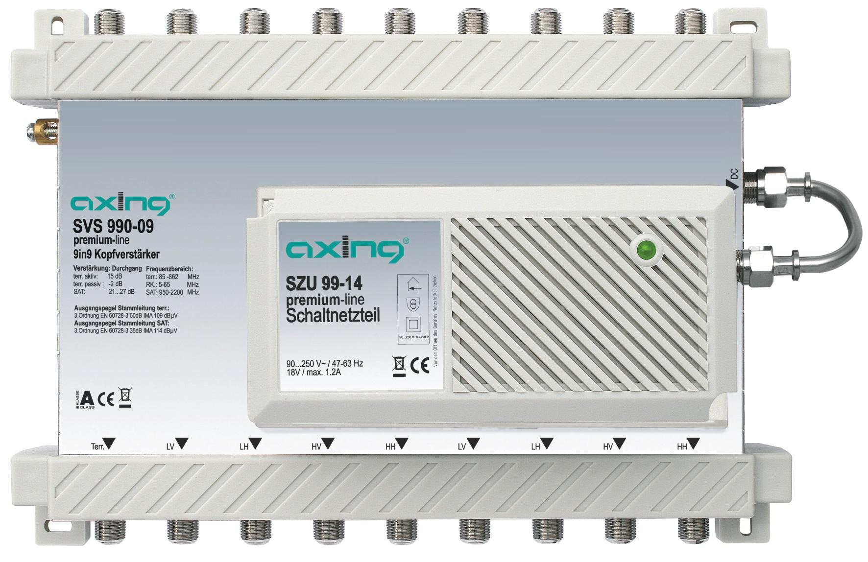 1 Stk SAT Kopfverstärker 9 in 9, SVS 990-09 HSATSV909A