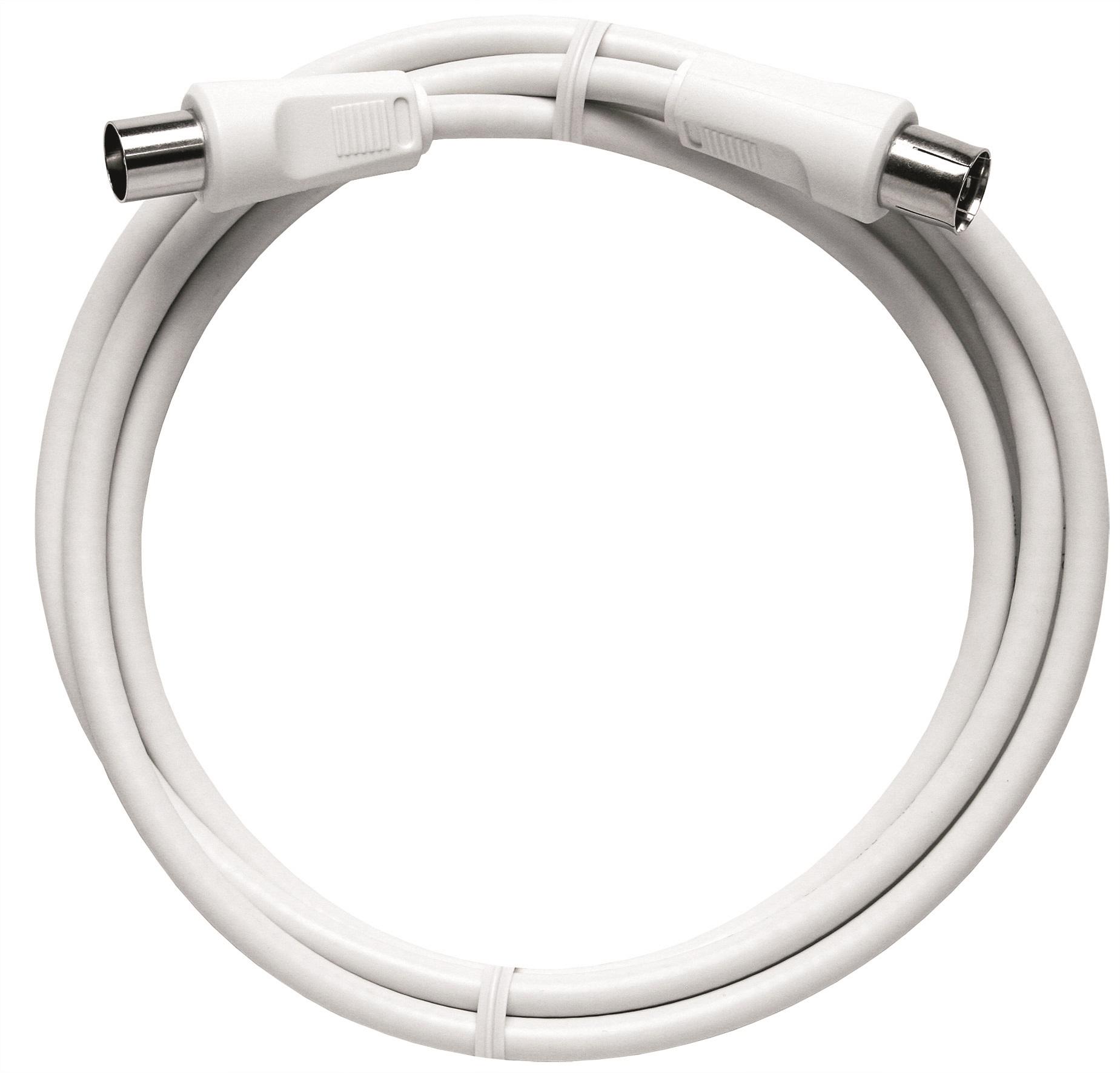 1 Stk BK Koax Patchkabel IEC-M/IEC-F,ger.,Cl.A,ws, 2,5m,BAK 250-90 HSBKPIG2K5