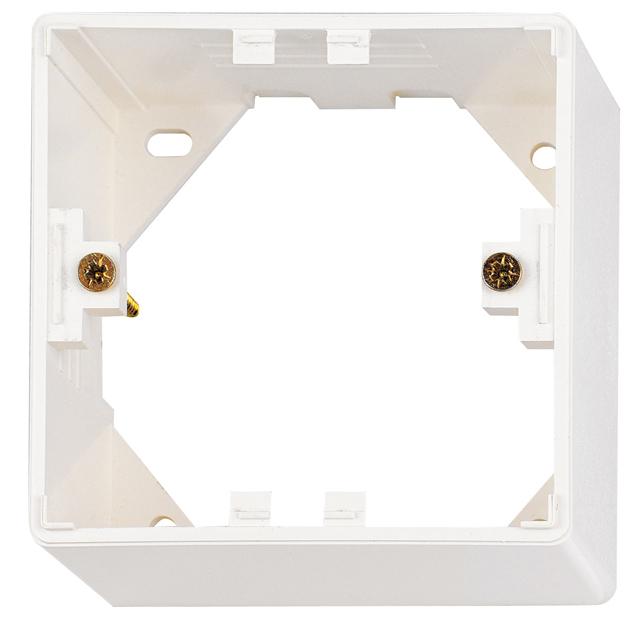 1 Stk Aufputz-Rahmen für HSEDx2UWxV, B80xH40xT80mm, RAL9010 HSEAP840WV