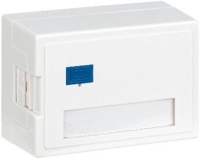 1 Stk Aufputz-Gehäuse leer für 1 Modul (SFA)(SFB), RAL9010 HSED01AW3S