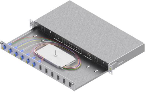 1 Stk LWL Spleißbox,12Fasern,LC, 9/125µm OS2, ausziehbar,19,1HE HSELS129LG