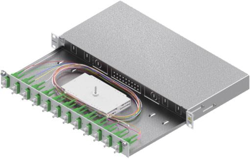 1 Stk LWL Spleißbox,24Fasern,SC/APC,9/125µm OS2,ausziehbar,19,1HE HSELS249CA