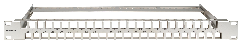 1 Stk Patchpanel 19 leer für 48 Module (SFB), 1HE, Edelstahl HSER0480SB