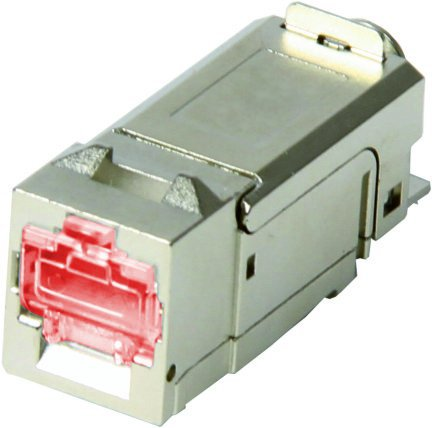 1 Stk LED LINK LINE Buchse RJ45 geschirmt Cat.6a,m.LED,KB IK (SFA) HSLMGMLI01