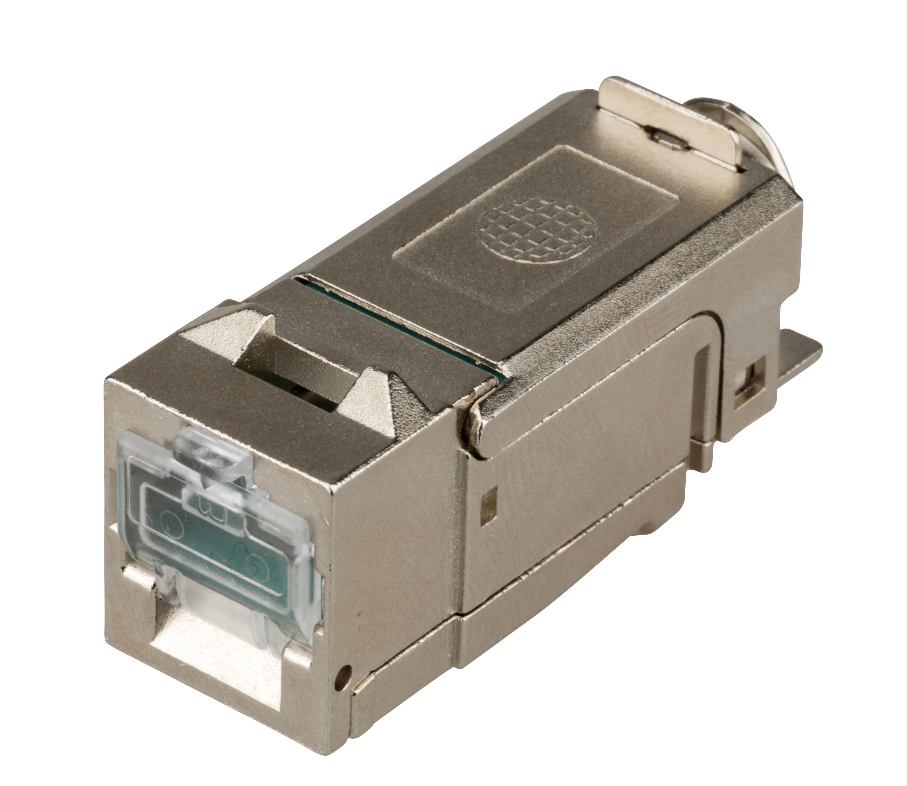 1 Stk QUICK CONNECT LINE Buchse RJ45 geschirmt Cat.6a (SFB), PoE+ HSLMGOL-01