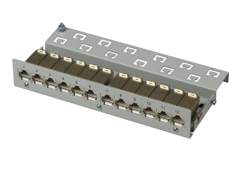 1 Stk LED LINK LINE Sammelpunkt 12xRJ45G C6a, o.LED, 6xKB IK HSLS12GOLI