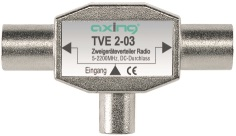 1 Stk SAT Zweigeräteverteiler IEC-Stec-2xIEC-Buchse,Radio,TVE 2-03 HSZUVG2R--