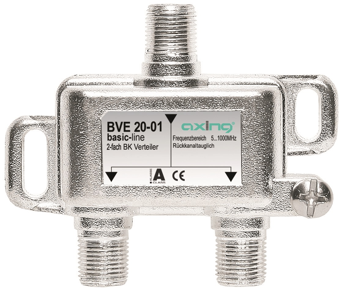 1 Stk BK Verteiler F-Buchse-2xF-Bu,Multimedia,5-1.006MHz,BVE 20-01 HSZUVM2F--