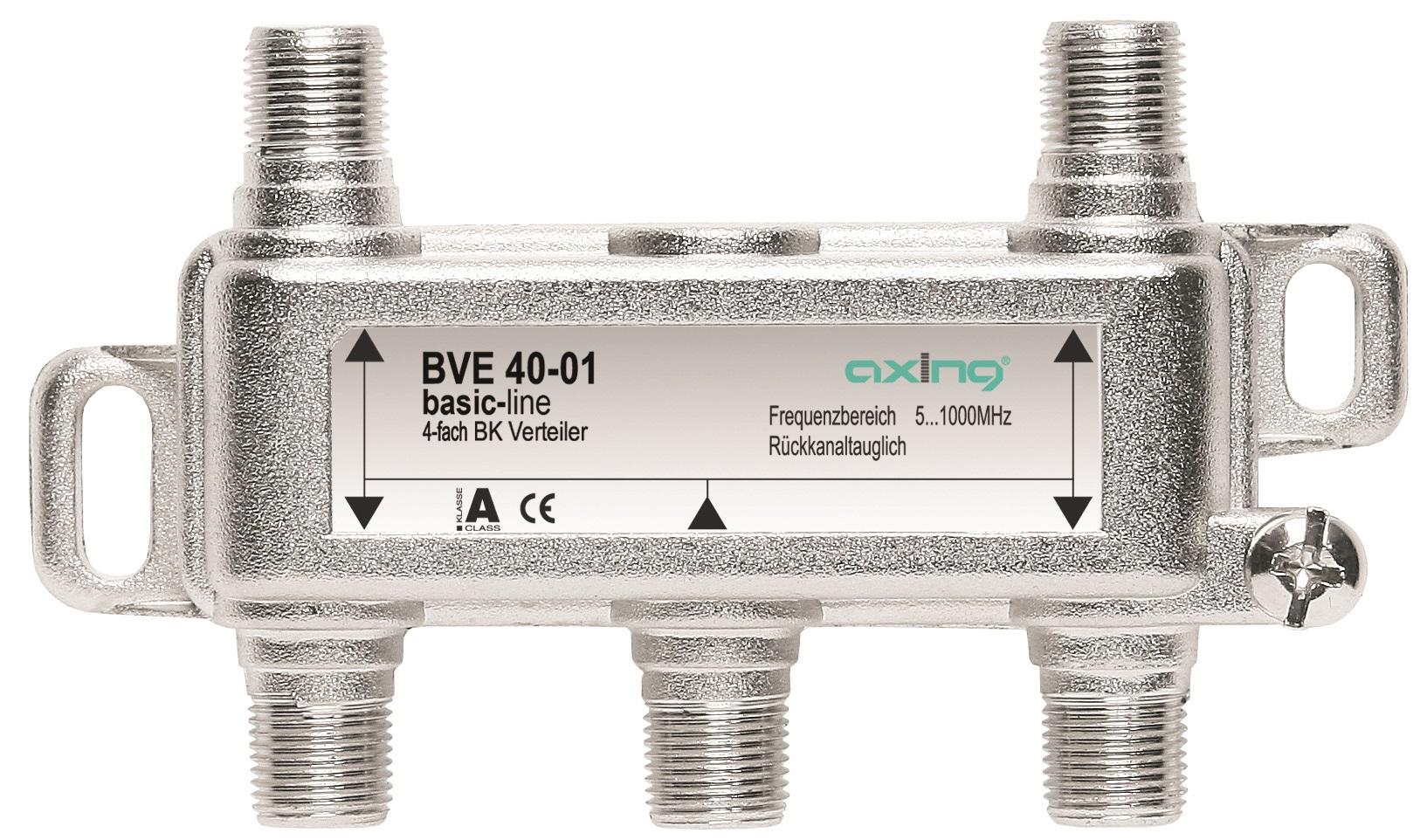 1 Stk BK Verteiler F-Buchse-4xF-Bu,Multimedia,5-1.006MHz,BVE 40-01 HSZUVM4F--